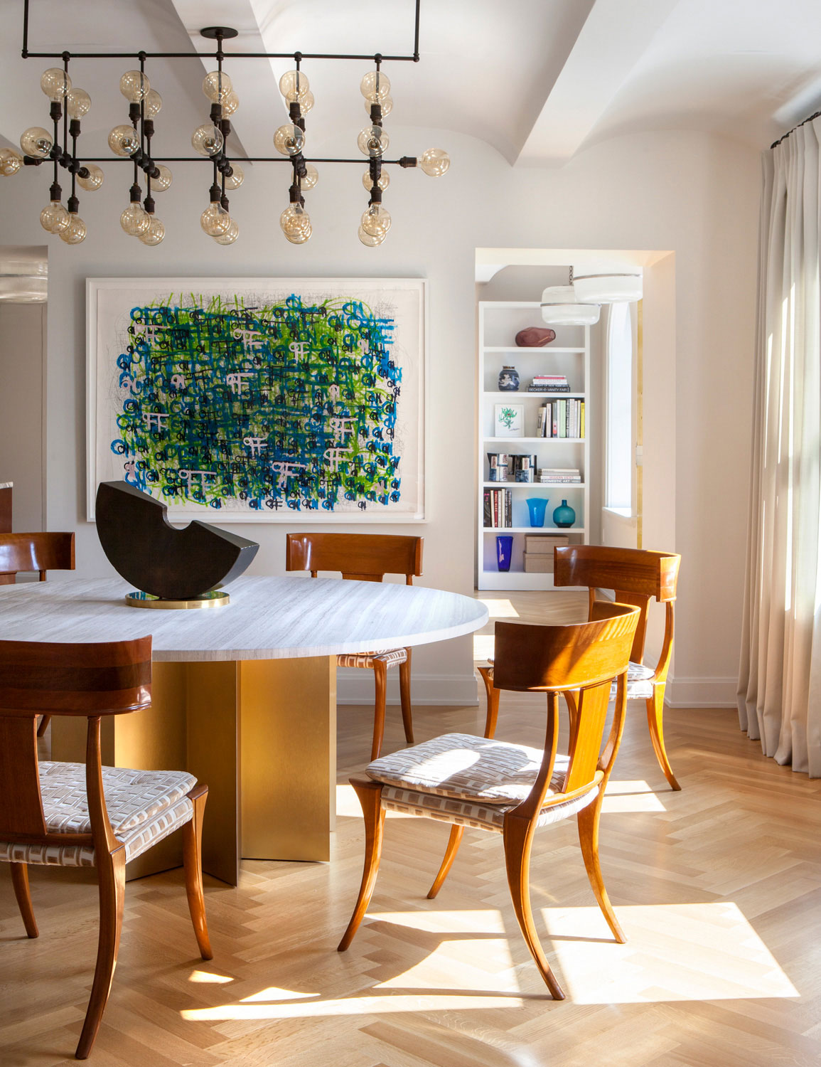 An Autumn Ready Dining Room In The West Village Nick Johnson For Shephard